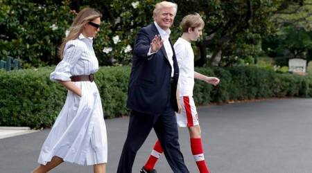 White House renews request for privacy for Trump's young son Barron