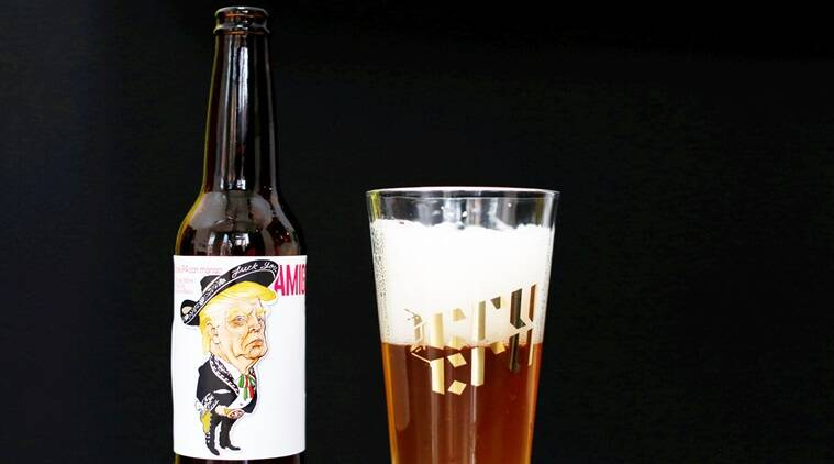 donald trump, donald trump beer, donald trump mexico beer, Amigous Cerveza, Amigous Cerveza craft beer, indian express, indian express news