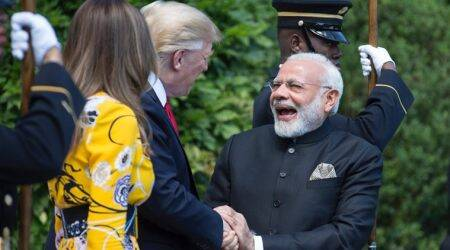 Hugs, handshakes and praise: How PM Modi, Donald Trump struck friendly note in first meeting