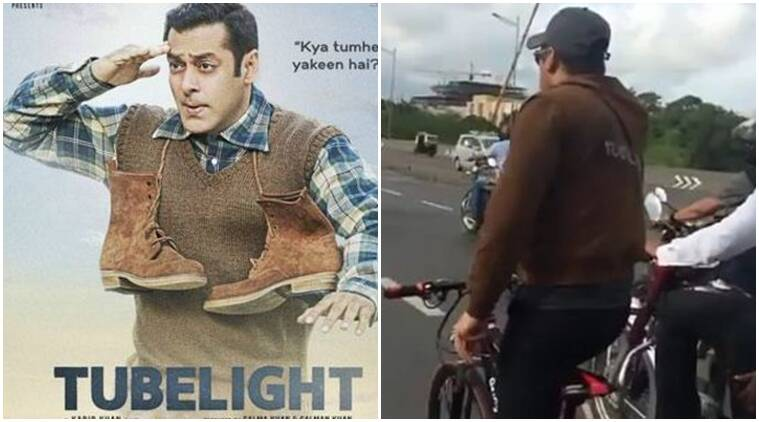 Tubelight, salman khan, tubelight promotions, salman khan cycles, salman khan video, salman khan instagram
