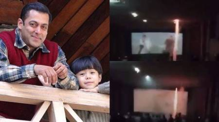 Fans burst crackers during Salman Khan's Tubelight screening in theatre, shocking video goes viral