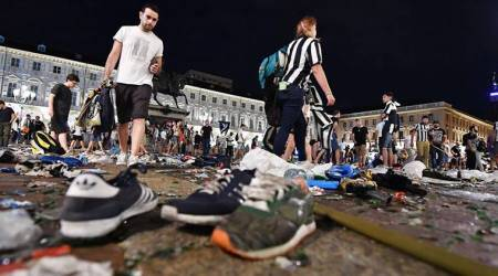 Thousands of Juventus fans injured in stampede in Turin