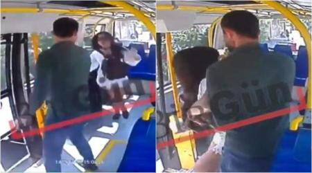 WATCH: Turkish man attacks female student on bus for 'wearing shorts during Ramadan'