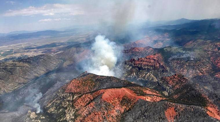 Utah, Utah Wildfire, Utah Fire, Utah, Utah Fire, World News, Latest World News, Indian Express, Indian Express News