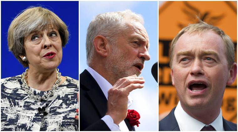 UK General Election, UK Election, Theresa May, Jeremy Corbyn, Tim Farron