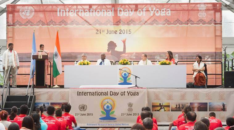 Yoga, International Yoga day 2017, United Nations, UN on Yoga international day, world news, indian express news