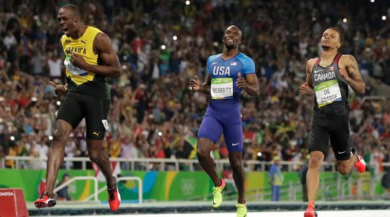 Canadian sprinter Andre De Grasse wants a piece of Usain Bolt's pie