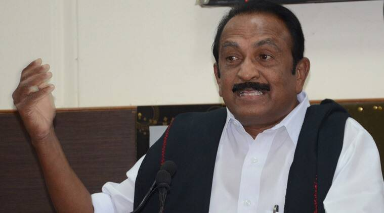 Vaiko, Tamil Nadu, MDMK Vaiko, latest news, latest indian express