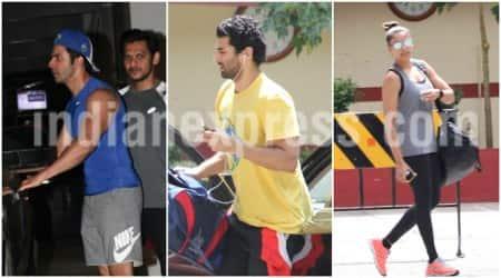 Varun Dhawan, Aditya Roy Kapoor, Bipasha Basu, Varun Dhawan Aditya Roy kapoor gym pics, Varun Dhawan Arjun Roy Kapoor pics,