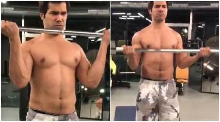 Varun Dhawan goes shirtless to flaunt his 'balance work'. Check workout video of Judwaa 2 actor