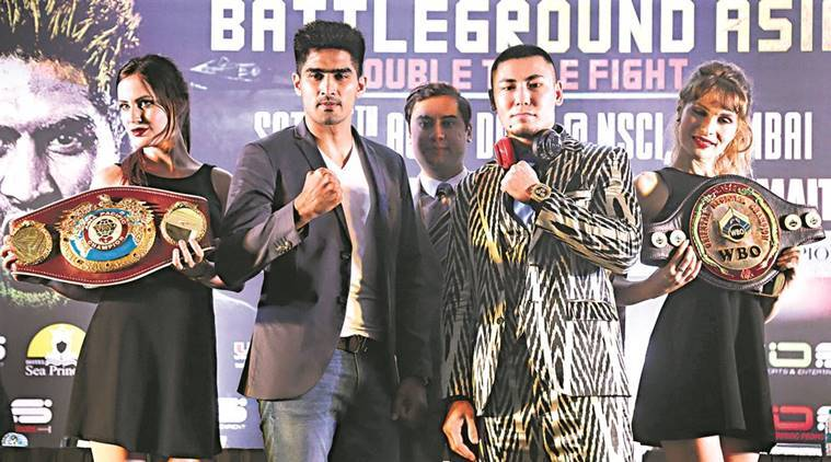 Vijender Singh, WBO Asia Pacific Super Middleweight title, WBO Oriental Super Middleweight belt, Zulipikaer Maimaitiali