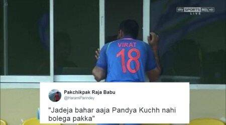 Tweeple can't stop captioning this photo of Virat Kohli peeping inside the dressing room