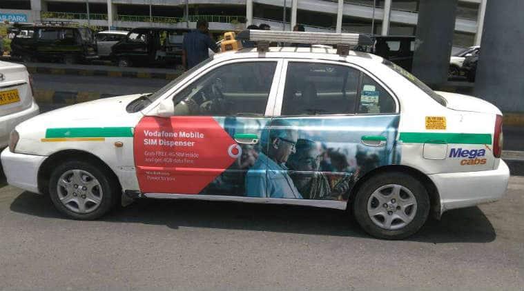 Vodafone, Vodafone 4G Sim, Vodafone 4G SIM in cabs, get Vodafone 4G SIM card, Vodafone free data