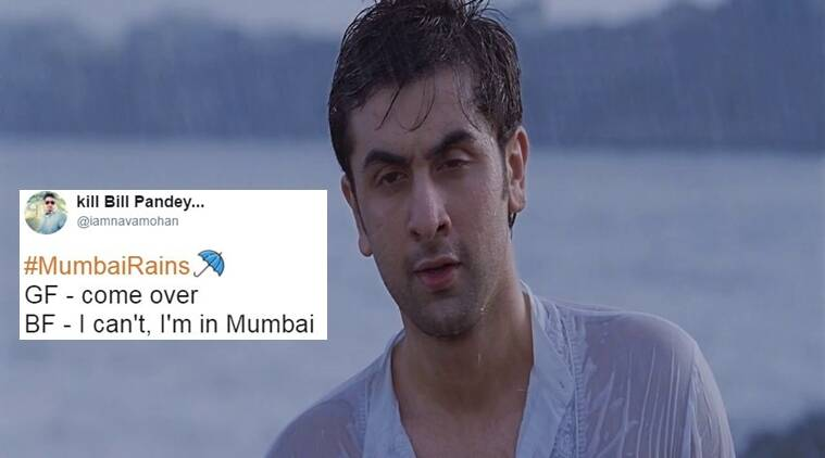monsoon, monsoon in india, mumbai monsoon, #mumbairains, mumbai rains, twitter reactions, indian express, indian express news