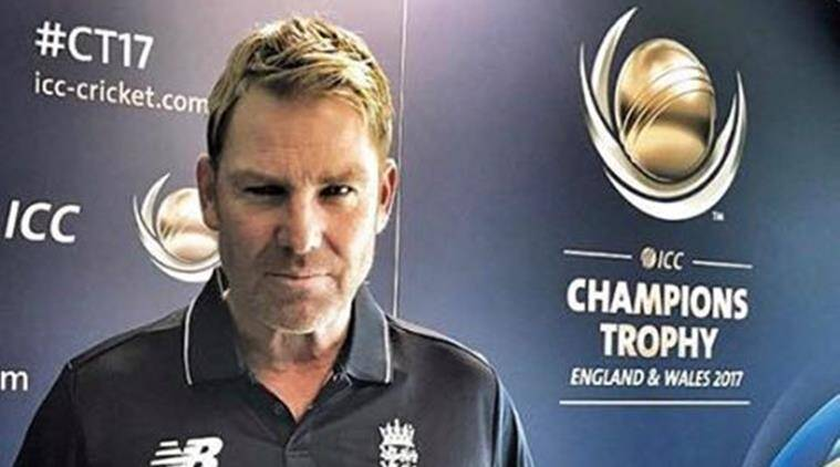 shane warne, icc champions trophy, indian express