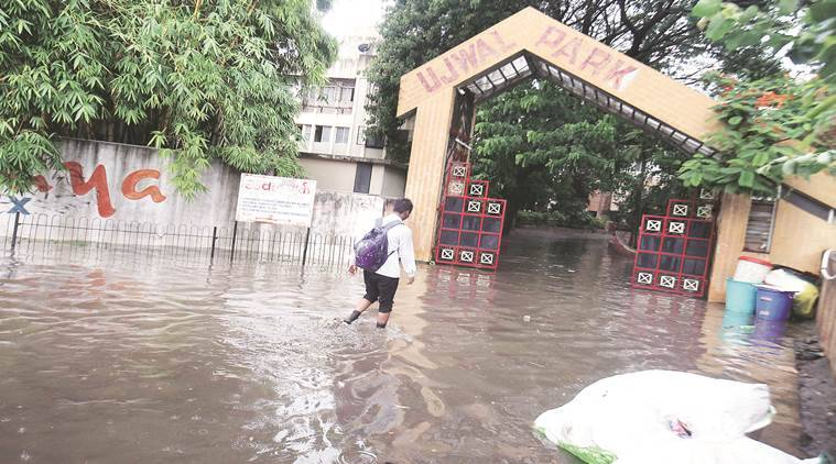 Pune Heavy Rain, Pune Water Logging, Pune News, Indian Express, Indian Express News