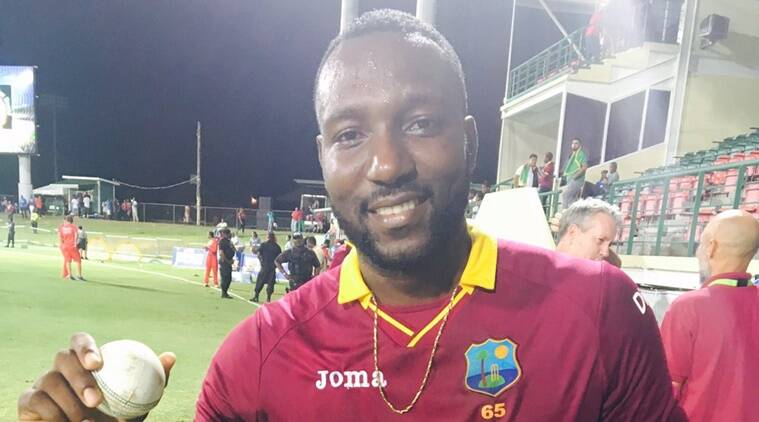 West Indies vs Afghanistan. Kesrick Williams, Indian Express