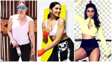 workout, workout celebs, celeb fashion workout, fitness bollywood celebrities, kareena kapoor khan, malaika arora khan, bipasha basu, parineeti chopra, deepika padukone, shraddha kapoor, katrina kaif, shilpa shetty, sara ali khan, alia bhatt, jacqueline fernandez, celebs, fashion, indian express, indian express news