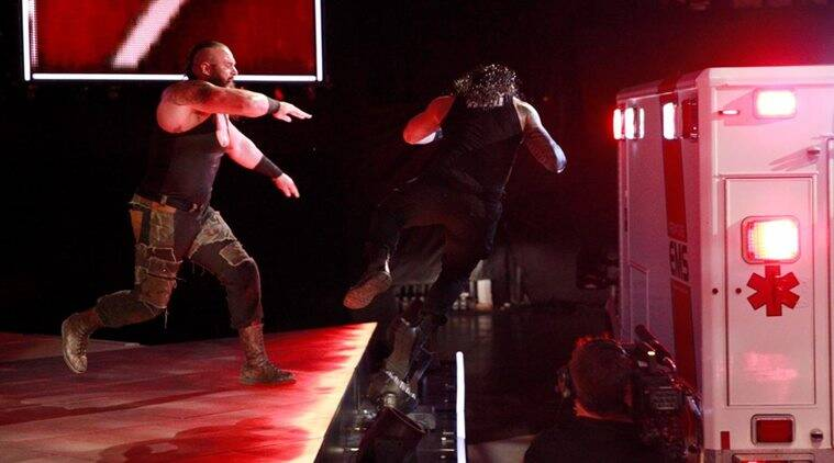 wwe raw, wwe news, roman reigns, braun strowman, brock lesnar, samoan joe, wwe videos, wwe photos, sports news, indian express