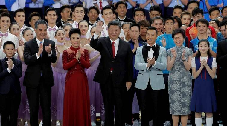 Xi Jinping, Hong Kong celebrations, Hong Kong China, Hong Kong security, China, World news, Indian Express
