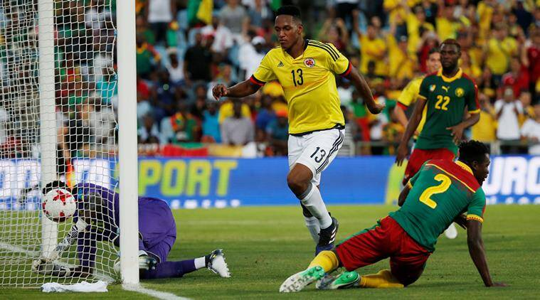 Yerry Mina nets 2 as Colombia beat Cameroon 4-0 in friendly