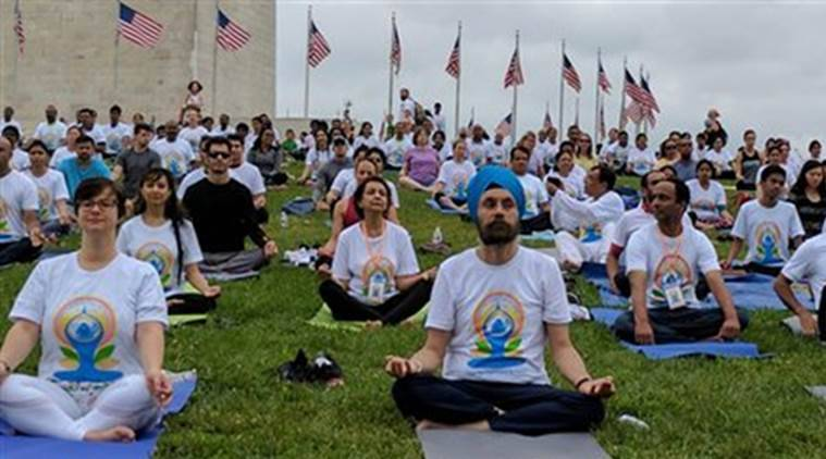 International Yoga Day, US International Yoga Day, United States International Yoga Day, International Yoga Day US, International Yoga Day United States, US Yoga Day, Yoga Day, World News, Latest World News, Indian Express, Indian Express News