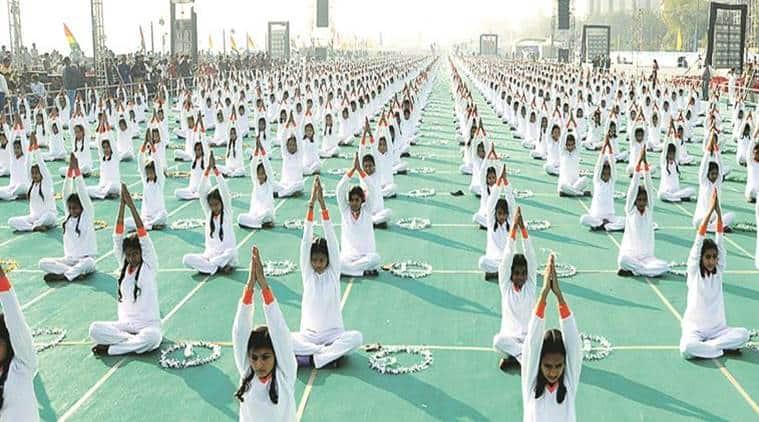 International Yoga Day, Yoga, Uttarakhand preparations for International Yoga Day 2017, Chief Minister Trivendra Singh Rawat, Dehradun Parade Ground  yoga day celebrations, indian express news