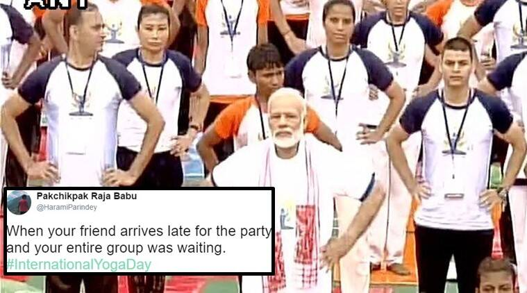 international yoga day 2017, international yoga day narendra modi yoga day, narendra modi yoga, funny yoga memes, funny yoga memes twitter, trending in india, trending in india india yoga, india yoga memes, trending globally, indian express, indian express news