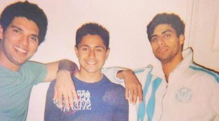 Yuvraj Singh rewinds the clock in picture with AshishNehra