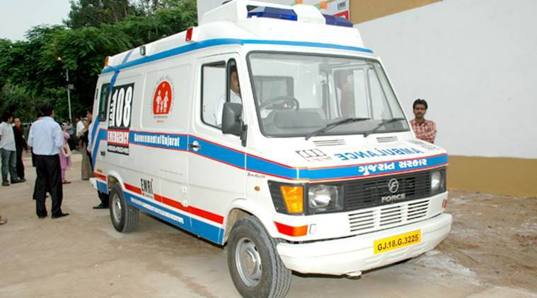 108 ambulance, emergency ambulance, Gujarat emergency ambulance, gujarat, gujarat 108 ambulance, india news