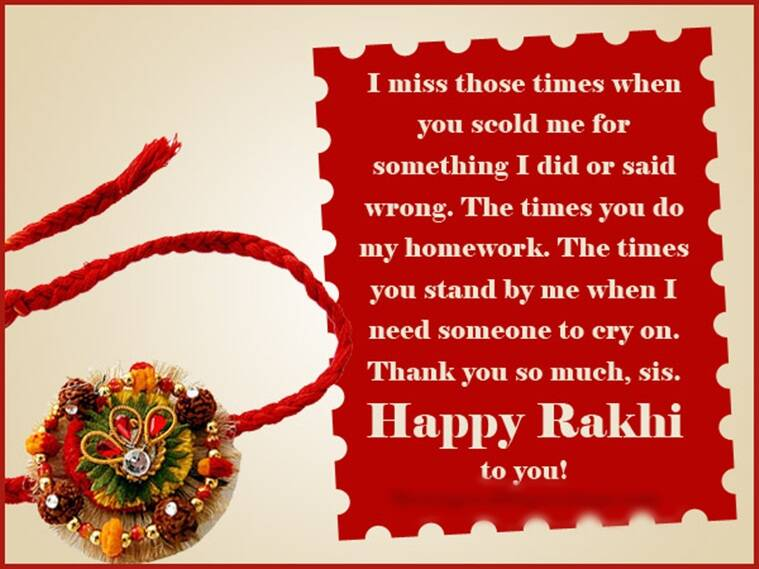 Happy raksha bandhan 2017 facebook and whatsapp messages status there is only one thing i have to say you are lucky to have me as your sister just kidding i am lucky to have you as my brother happy raksha bandhan m4hsunfo