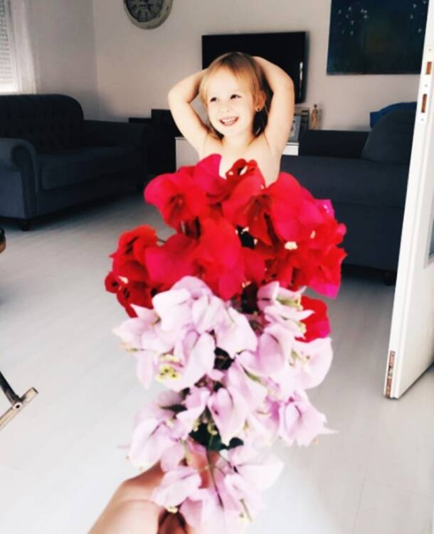 This adorable little girl who 'dresses' up in fruits and flowers is an Instagram star