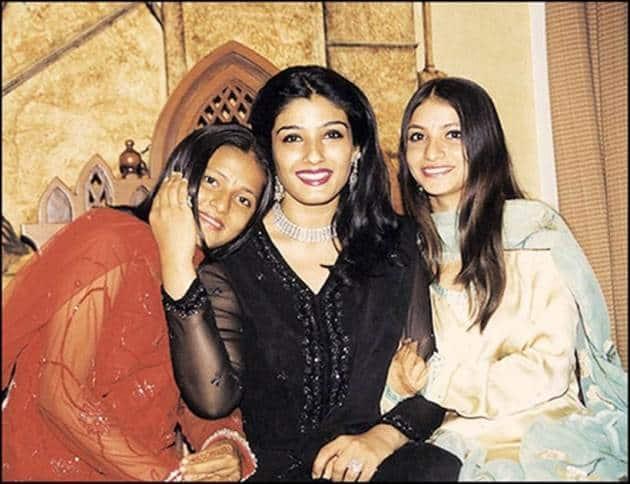 raveena tandon adoption, raveena tandon kids, raveena tandon adopted daughter, raveena tandon daughters images