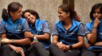 Indian women cricket team returns from England to rousing reception