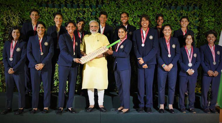 Prime Minister Narendra Modi meets India women's cricket team, congratulates on spectacular performance