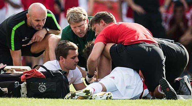 Ajax player in intensive care after collapsing mid-game