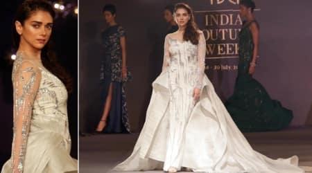 aditi rao hyadri, Gaurav Gupta, Gaurav Gupta collection, Gaurav Gupta designs, Gaurav Gupta ICW, Aditi Rao Hydari, Indian Express, Indian Express News