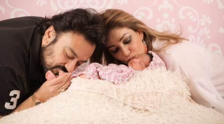 Adnan Sami revealed first images of his new born daughter Medina, and she is beyond adorable. See photos