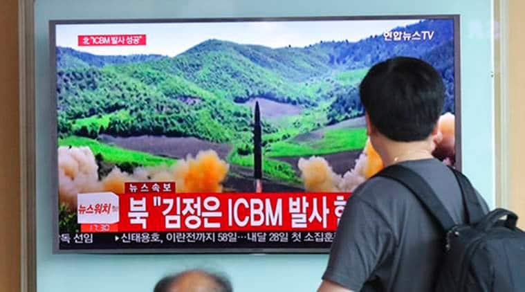 Russian military, North Korean missile, N Korean Missile, Russian military N Korean Missile, North Korea, North Korea intercontinental ballistic missile, Hwasong-14 intercontinental ballistic missile, World News, Latest World News, Indian Express, Indian Express News