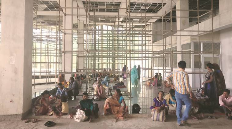 AIIMS, AIIMS bhopal, no emergency room, AIIMS bhopal infrastructure, no AIIMS OPD, indian express news, india news, AIIMS news