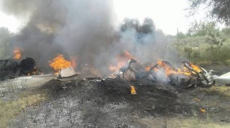 MIG 23 aircraft, MIG 23 aircraft crash, indian air force aircraft crash, army helicopter crash, jodhpur army helicopter crash, indian express news, india news