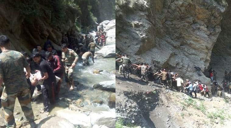 amarnath, amarnath yatra, amarnath yatra accident, amarnath accident, pilgrim accident, J&K accident, bus accident amarnath, indian express news, india news
