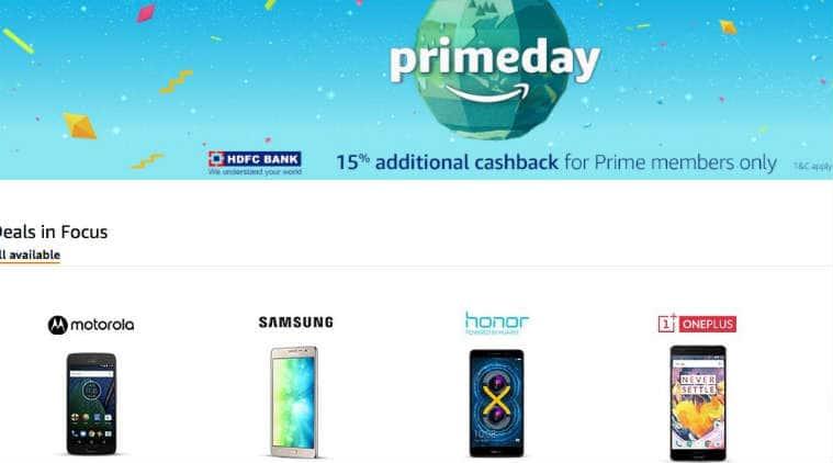 Amazon Prime Day deals, Amazon Prime Day, Amazon Prime Day sale, Amazon Prime Day Apple iPhone, OnePlus 3T discount, Moto G5 Plus discount, Amazon Prime Day mobile discounts, Amazon Prime Day smartphone discounts