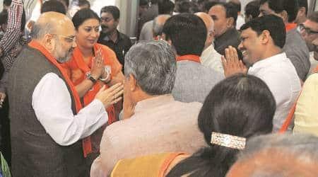 Gujarat: Amit Shah, Smriti Irani, Cong-import Balwantsinh Rajput file nomination for RajyaSabha