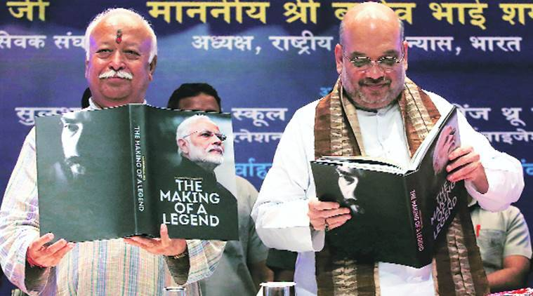 RSS chief Mohan Bhagwat releases book on Modi 'The Making of Legend'