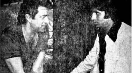 Amitabh Bachchan revisits the sets of Sholay, shares a picture of him and Dharmendra rehearsing as Jai and Veeru