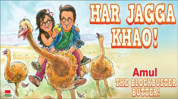 jagga jasoos, amul, ranbir kapoor, anurag basu, katrina kaif, jagga jasoos amul ad, jagga jasoos amul cartoon, jagga jasoos film collection, entertainment news, bollywood, indian express