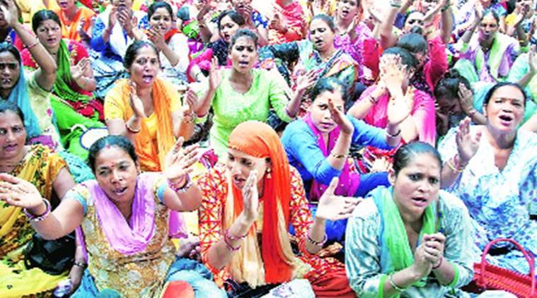 Anganwadi Wokers not paid, Delhi anganwadi workers, Integrated Child Development Scheme , Arvind Kejriwal Anganwadi workers, department of Women and Child Development, Manish Sisodia, Delhi news, Indian Express News