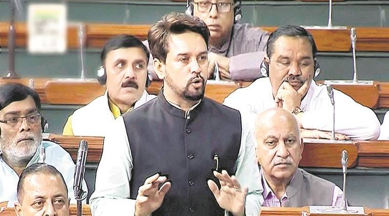 Protest against Anurag Thakur in Lok Sabha, govt forced to drop passage of key bill