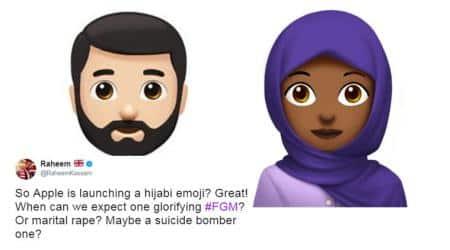 apple, world emoji day, hjijab emoji, hijab emoji backlash, apple hijab emoji, hijab emoji in apple, islamophobia, racial attack hijab emoji, techology news, world news, viral news, indian express